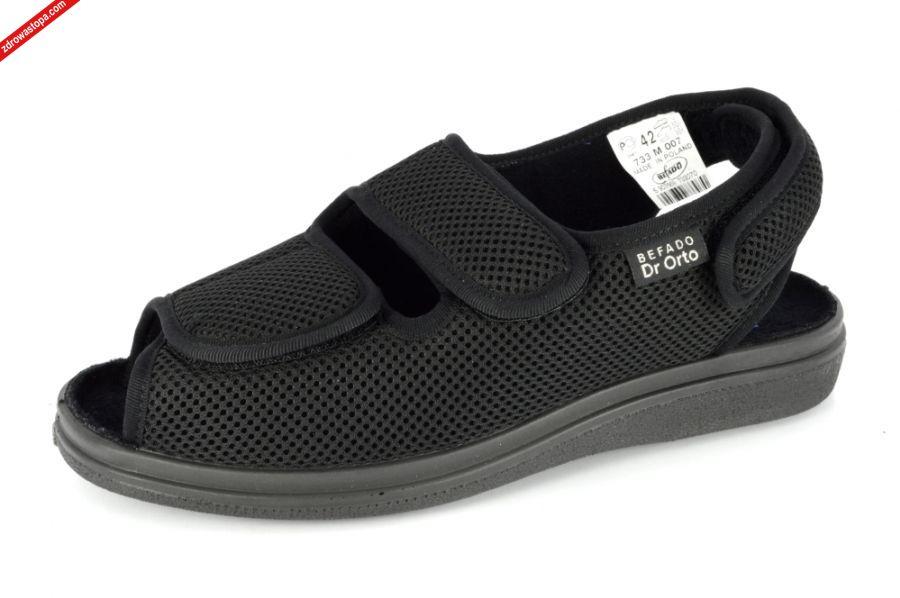c5f8574f5aa5c Typ: sandały męskie. Kolor: czarny. Materiał wierzchni: obuwie tekstylne, wysokiej  jakości. Wnętrze buta: naturalny materiał. Rozmiary: 42